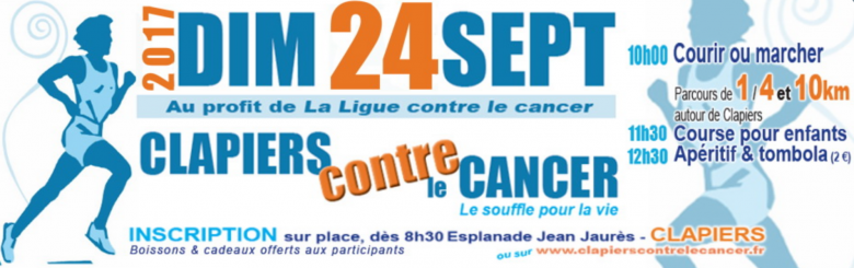 Clapiers court contre le cancer - édition 2017 - Blog Trinque Fougasse