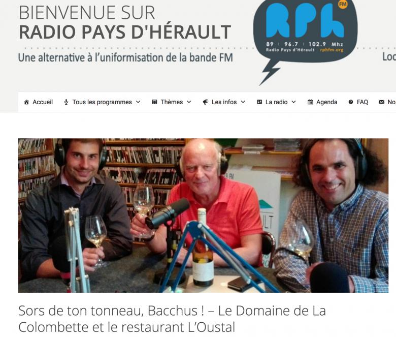 La Colombette sur Radio Pays d'Hérault