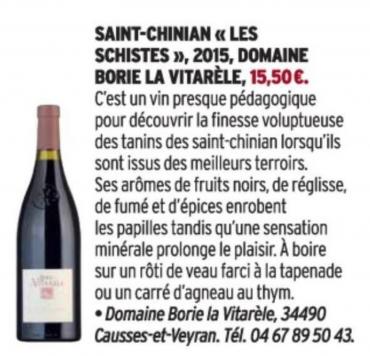 Cuisine et Vins - Borie la Vitarèle
