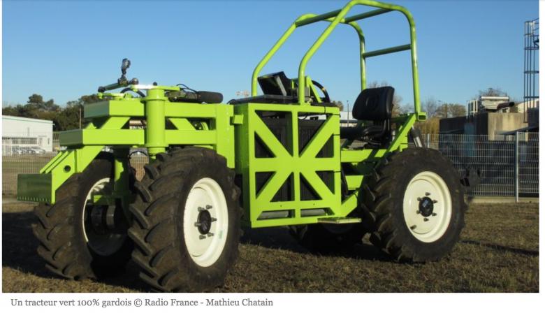 Tracteur électrique made in Gard