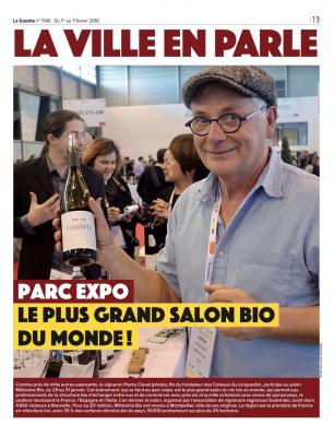 """""""La Ville en Parle"""" - La Gazette - Pierre Clavel - Millésime Bio 2018"""