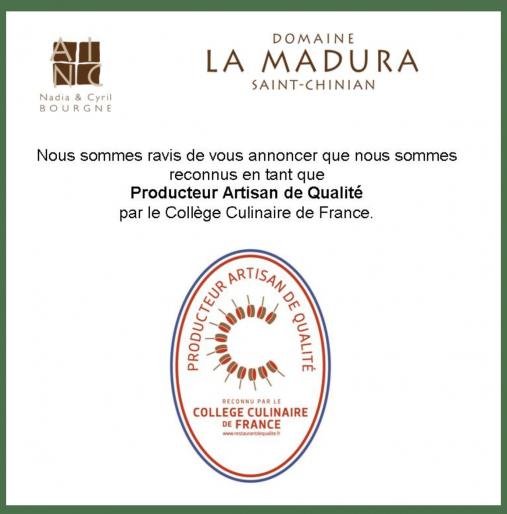 La Madura devient Producteur-Artisan de qualité en 2018