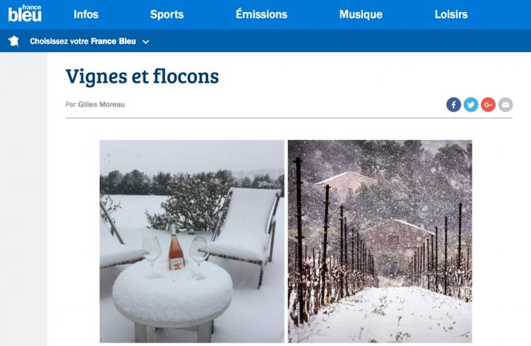 Vignes et flocons - France Bleu Hérault mars 2018