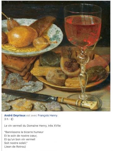 Jean de Rotrou - André Deyrieux - Cinq du Vin - Vin Vermeil - Domaine Henry 2018