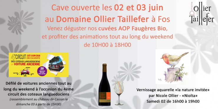 Cave ouverte 2-3 juin Ollier Taillefer