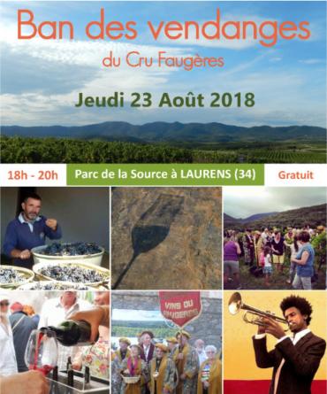 Ban des Vendanges Faugères 2018