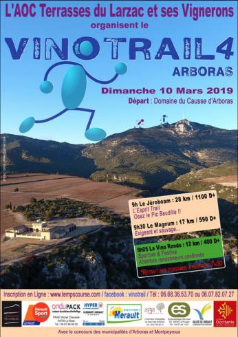 Vinotrail en terrasses du Larzac le 10 mars 2019