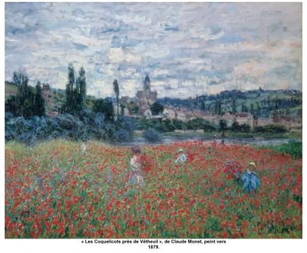 « Les Coquelicots près de Vétheuil », de Claude Monet, peint vers 1879.