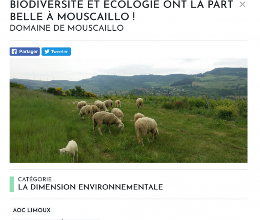 Laboratoire du Développement Durable Languedoc - Domaine de Mouscaillo