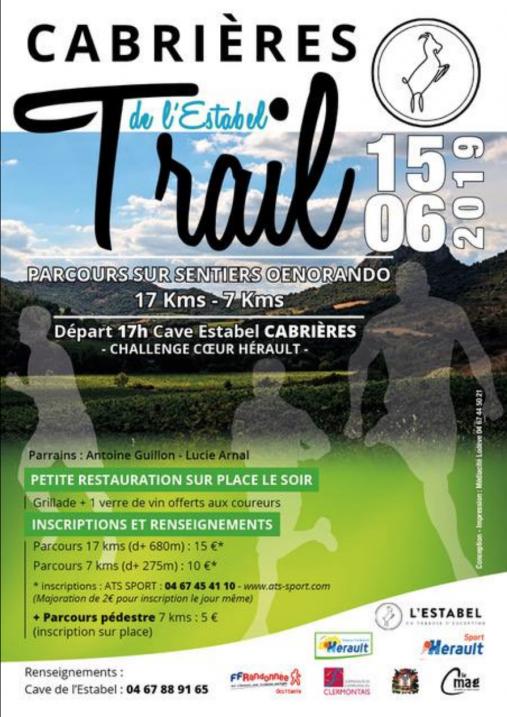 Cabrières, Trail de l'Estabel 2019