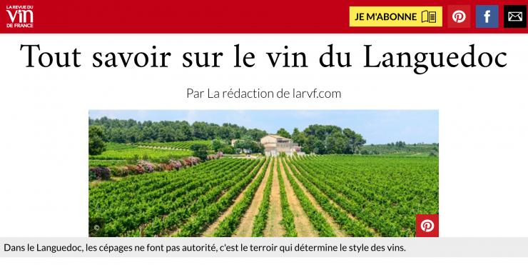 La RVF - Mars 2019 - Languedoc