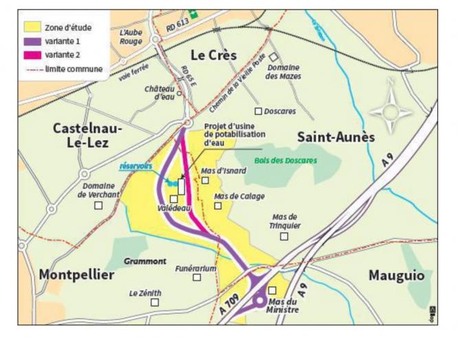 Déviation Est de Montpellier - midi libre avril 2019