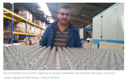 les premières bouteilles 100% végétales via France Bleu