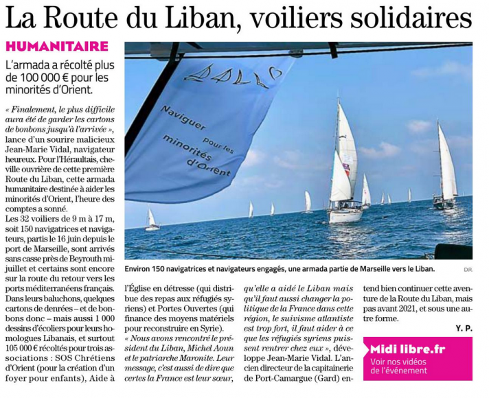 Midi Libre Route du Liban sept 2019