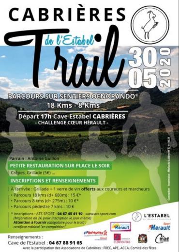 Trail de l'Estabel à Cabrières 30 mai 2020