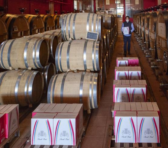 Château Puech-Haut offre 36 bouteilles à ses clients pro (RVF - Idelette Fritsch)