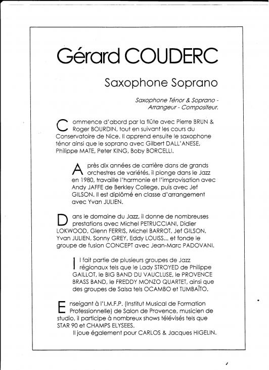 BonafosGérard Couderc CV