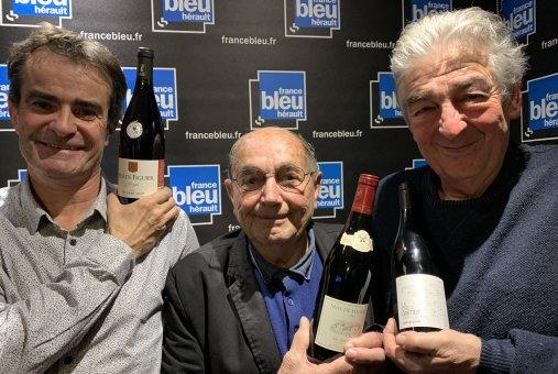 Dominique Boudet Gilles Pagès Gérard Jeanjean Gilles Moreau France Bleu Hérault Les Héros de la Vigne février 2020