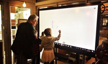 Grand écran O'Nord - Dominique Boudet dessine avec les enfants - décembre 2017