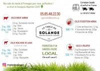 La Table de Solange - Aveyron - Livraison