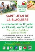 St Jean de la Blquière marché de producteurs 2019