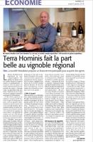 Terra Hominis - Midi Libre janvier 2018