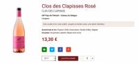 rosé Clos des Clapisses