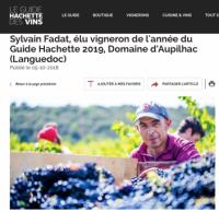 Sylvain Fadat, vigneron de l'année 2019 du Guide Hachette