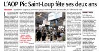 L'AOP Pic Saint Loup fête ses deux ans - Midi Libre février 2019