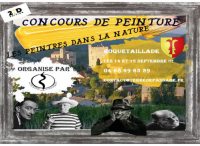 Roquetaillade : concours de peintres 14-15 sept 2019
