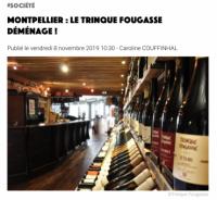 Le trinquefougasse déménage ! - La Gazette de Montpellier - 8 novembre 2019
