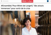 Miren de Lorgeril dans Midi Libre - 29 mai 2020