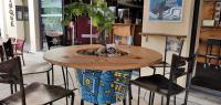 RIZOM - table végétalisée, connectée et personnalisée par l'artiste OUPS sur la terrasse O'Sud