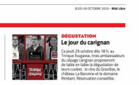 Le Jour du Carignan - 29 octobre 2020 dans le Midi Libre