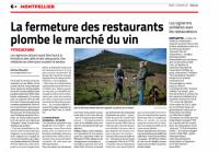 Midi Libre du 12 janvier 2021 - Véronique Attard Mas Coris