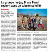 Jay Jay Brass Band Midi Libre 21 Mai 2021 - Midi Libre