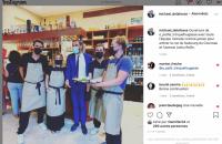 Michael Delafosse : Monsieur le Maire découvre O'Petit Trinque Fougasse - 1er septembre 2021