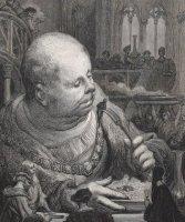 Gargantua mangeant des pèlerins en salade