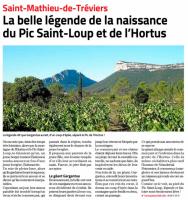 La Légende du Pic Saint Loup - Midi Libre août 2020