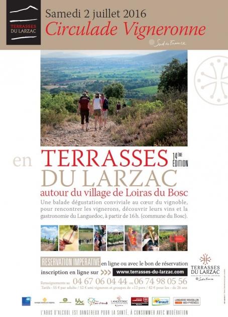 14ème Circulade vigneronne en Terrasses du Larzac - Blog Trinque Fougasse - 2016
