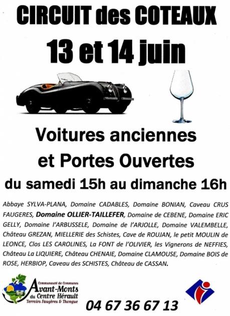 1er Circuit des Coteaux - 13 et 14 juin 2015 à Faugères - IGP Côtes de Thongue - Coteaux du Languedoc