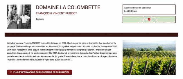 Acheter en ligne - vin - Domaine la Colombette chez Trinque Fougasse