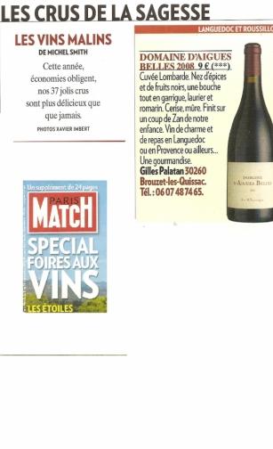 Aigues Belles Paris Match 2011