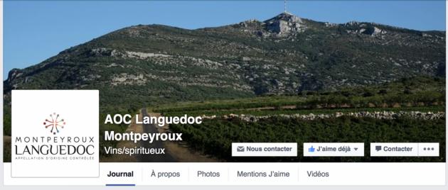 AOC LANGUEDOC MONTPEYROUX sur Facebook - Blog Trinque Fougasse