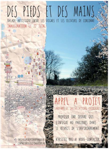 Balade Land'Art et Installations extérieures - Appel à projet - été 2014 - Zélige Caravent - Corconne
