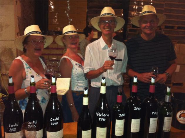 Cave ouverte chez Ollier-Taillefer - Faugères - 26 juillet 2015