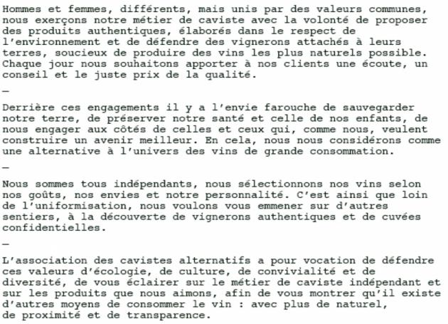 Cavistes Alternatifs - Blog Trinque Fougasse