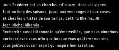 Champagne Louis Roederer - présentation