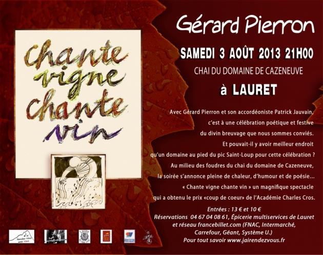 Chante Vigne Chante Vin - Gérard Pierron