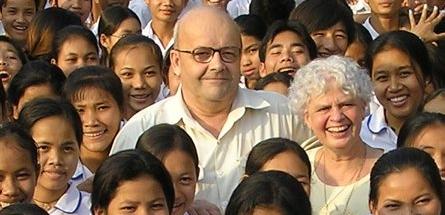 Christian et Marie-France des Pallières - Pour un Sourire d'Enfant - Cambodge - Association © La Dépêche